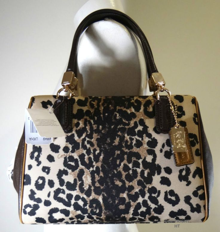 Coach Madison Ocelot Mini Satchel Bag 49969