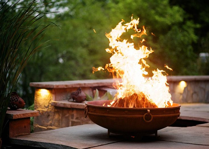 Asia Steel Wood Burning Fire Pit