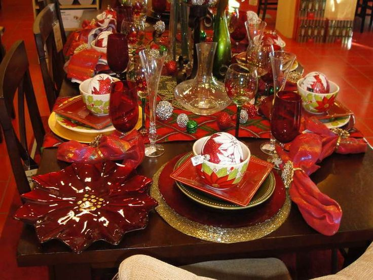 interior-dining-room-brown-stained-wooden-dining-table-for-christmas-banquet-decorating-ideas-with-brown-wooden-dininng-chair-and-red-glass-wine-and-sup-bowl-as-well-as-decorating-ideas-for-c