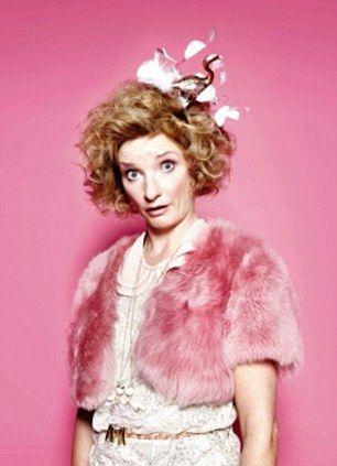 Jane Horrocks as 'Bubble' in the comedy Absolutely Fabulous.