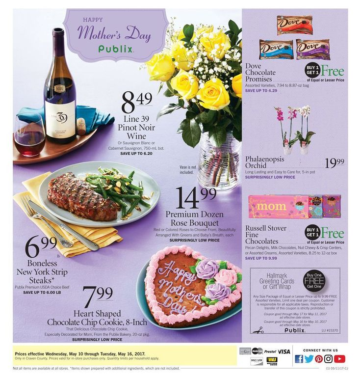 Publix Weekly Ad Circular May 10 - 16 United States #food #savings #Publix Happy Mother's Day