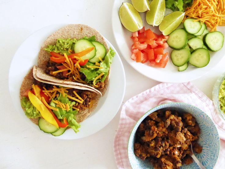 Tacos végétariens aux haricots noirs - Black bean vegan tacos