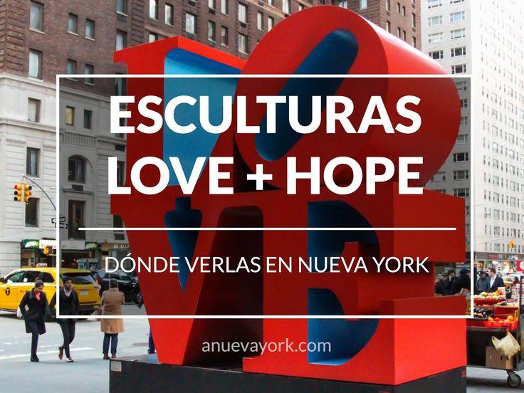 Dónde encontrar las esculturas LOVE y HOPE de Nueva York.