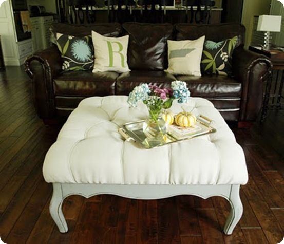 Diamond Tufted Ottoman 2: Canvas Drop Clothing, Less Than Perfect Life, Old Tables, Diy Diamonds, Memorial Tables, Diamonds Tufted, Tufted Ottomans, Old Coffee Tables, Diy Projects