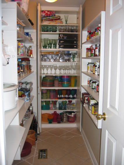 (right Side) Wall Niche In Pantry, Cut Into Studs To Create Skinny Storage  Area.I Want A House