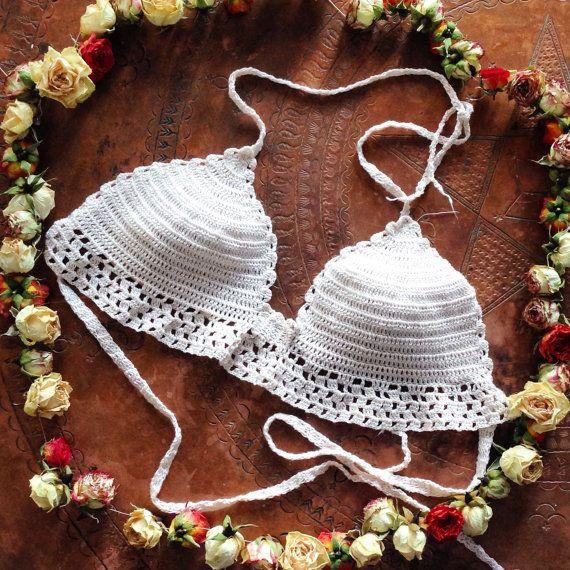 Crochet Festival Bikini Top by ModernBohemiaStyle on Etsy