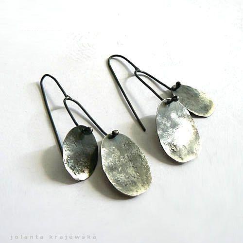 earrings two of us  sterling silver mod on Etsy, $88.00