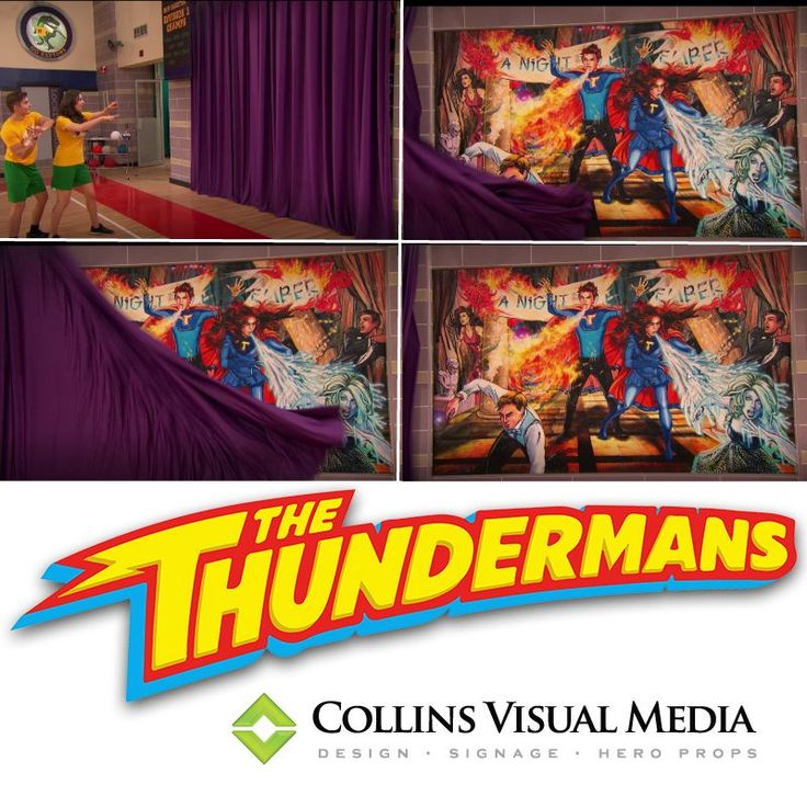 "The Thundermans  We printed and fabricated this canvas, stretch graphic for The Thundermans  episode ""Revenge of the Smith""  featuring the ""The Hero Mural"" that  we made for Nickelodeon in January.  Check out the fantastic video clip here  on Nick.com!"