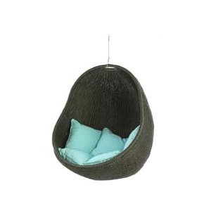 Urban Balance Cove Outdoor Hanging Chair with 5 Pillows