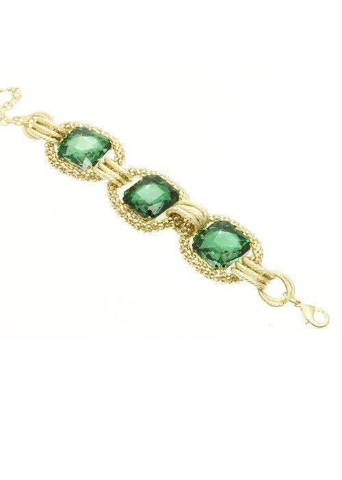 Jewel Link Bracelet (Green) – EvaMaria Boutique
