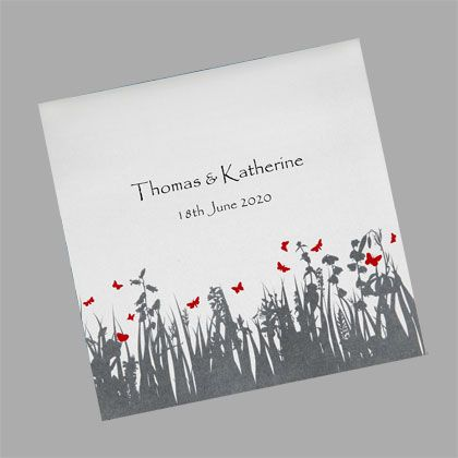 Garden Butterflies Wedding Invitation - A beautiful invitation for a garden wedding
