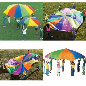 £8.59 OurWarm 8 Foot 78inch Kids Play Rainbow Parachute Outdoor Game exercise Sport: Amazon.co.uk: Toys & Games