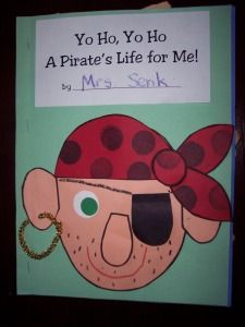 This is a cute book to make with a pirate theme week