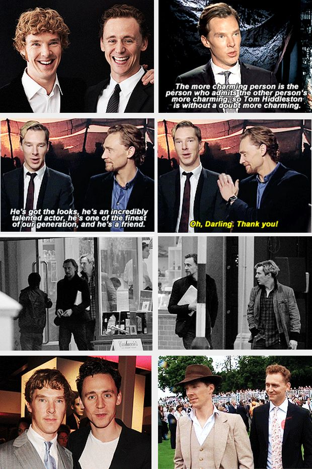 tom hiddleston and benedict cumberbatch caught in a fab