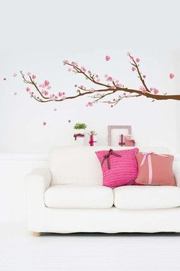 Love this! Removable wall decals are hot!    Cherry Blossoms Removable Wall Decal Set on HauteLook