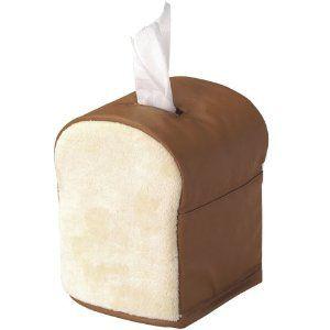 パンの形のロールティッシュケース。 サイズ:高さ17cm×横幅14cm×奥行13cm 重量:70g 素材:PU、ポリエステル