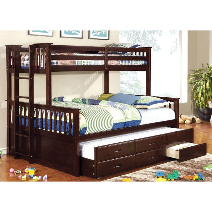 Furniture Of America Williams Twin Over Queen Bunk Bed