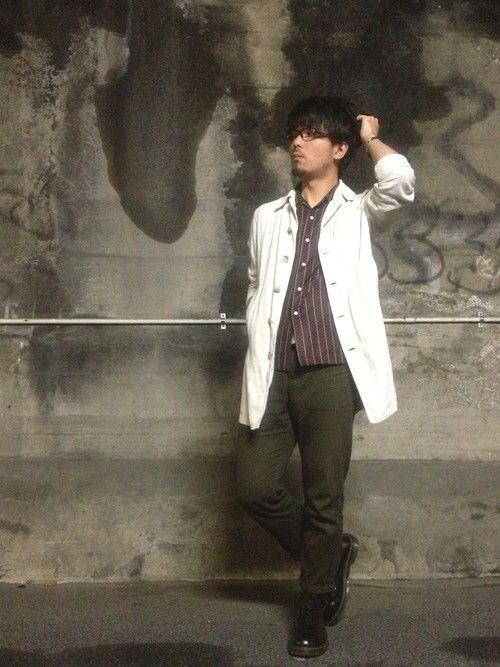 TadahiroMurataさんの「ショップコート(WEGO)」を使ったコーディネート