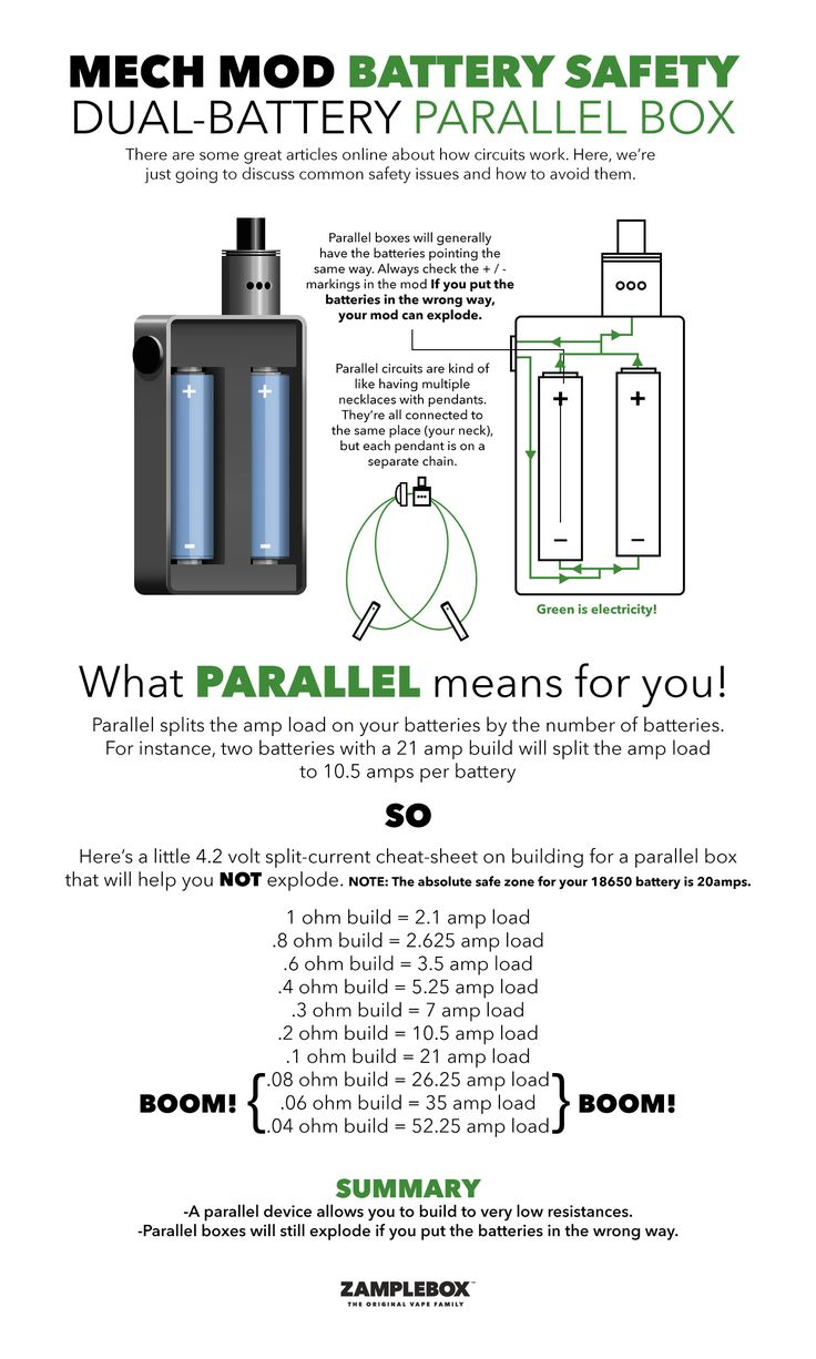 Mech Mod Battery Safety Dual Battery Parallel Box