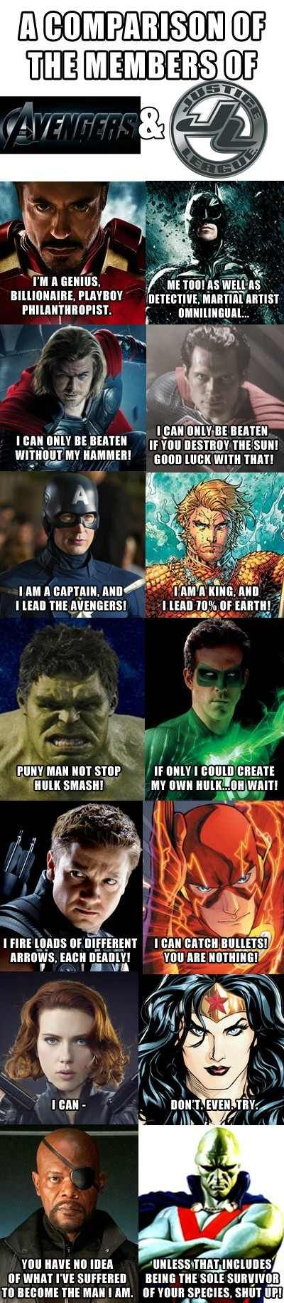 Okay Hawkeye doesn't count he's his own counter part, meanwhile Aquaman is nothing compared to Captain America