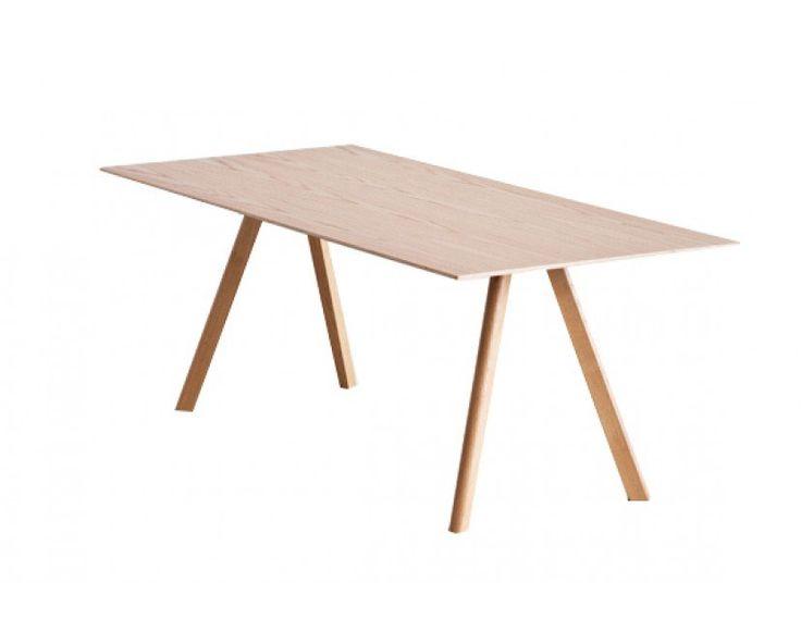 HAY - Copenhague Table 30 - 250 x 120 cm - Gestell klar lackiert - Tischplatte klar lackiert