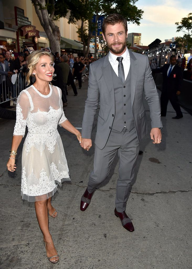 Chris Hemsworth and Elsa Pataky at the premiere for The Huntsman: Winter's War.
