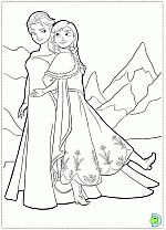 Sweet Princess Frozen Coloring Pages For Girls