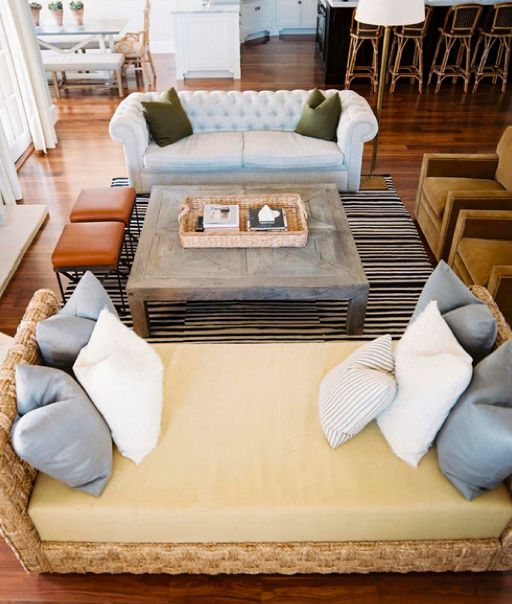 day bed beach house love the reclaimed wood coffee table sofa across from daybed