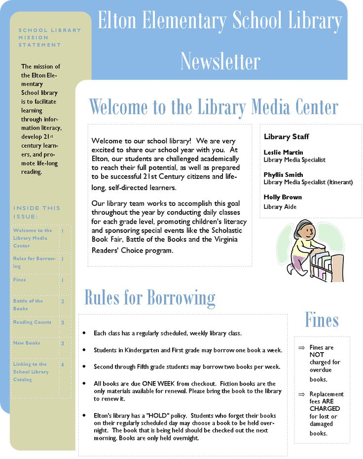 Creating a Library Newsletter