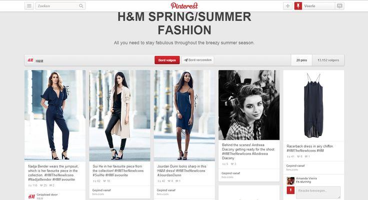 Ik vind dat H&M zijn boards zeer interessant en communicatief gebruikt. De reacties die erbij gegeven worden, zijn persoonlijk gericht. Wat zeker positieve reacties zal uitlokken bij sommige klanten. Omdat ze zich persoonlijk aangesproken voelen.     Bron: http://www.pinterest.com/hm/hm-springsummer-fashion/