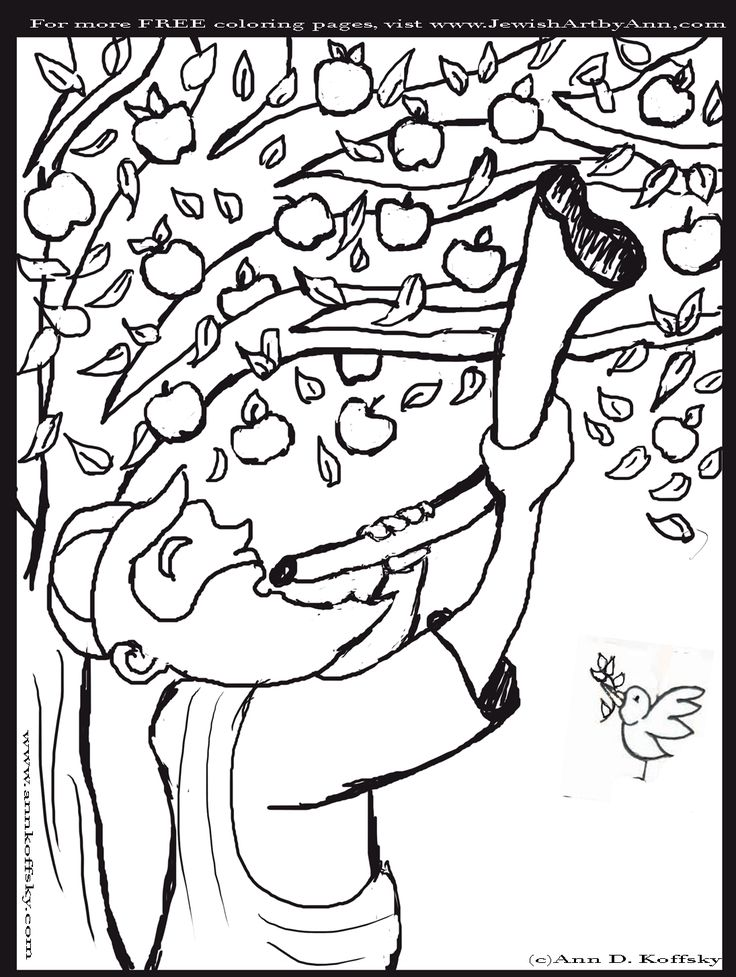 16 best Rosh Hashana Crafts \ Activities for Kids images on - copy happy new year card coloring pages