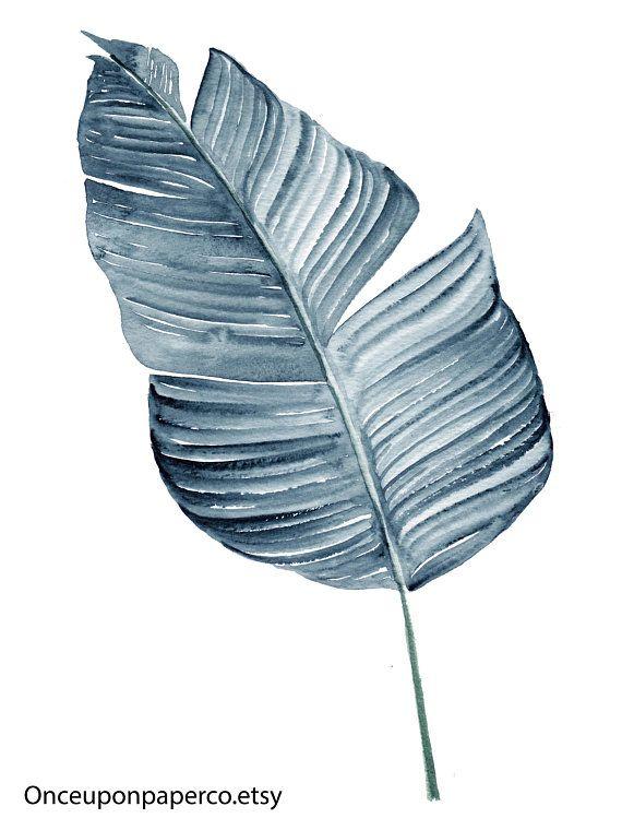 Blue Botanical Print Botanical Art Art Print Leaf Print