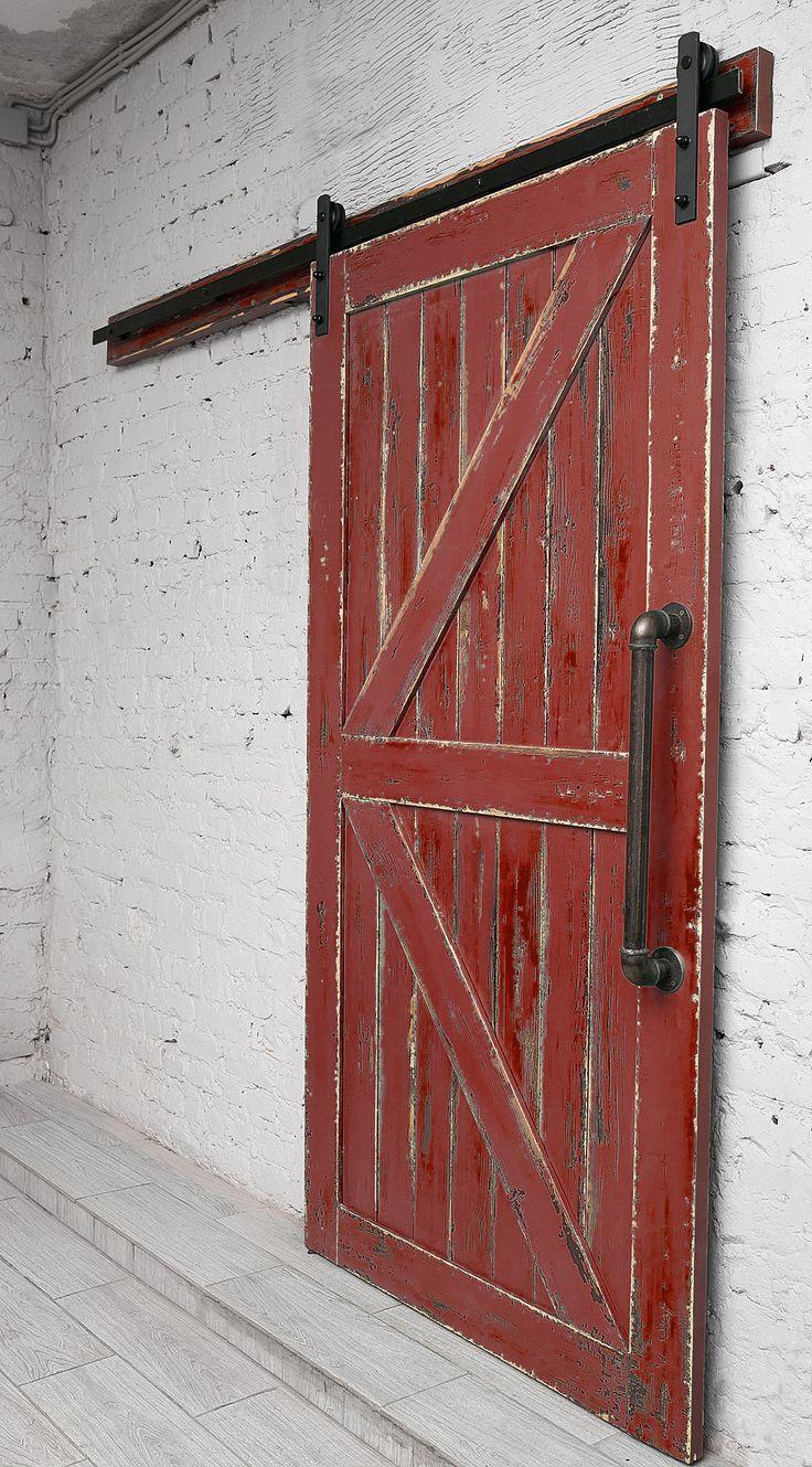 Двери лофт на амбарном подвесном механизме