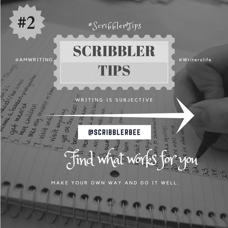 ScribblerTip number 2 - Finding what works for you! https://www.tumblr.com/blog/scribblerbee-things