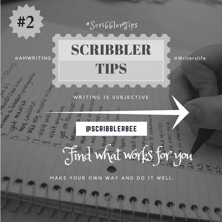 ScribblerTip number 2 - Finding what works for you! https://www.tumblr.com/blog/scribblerbee-things