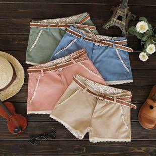 Enviar correa de 2013 dulces decoración del cordón de la perla del todo-fósforo-pantalones cortos pantalones cortos mujeres solteras HXL1210LQ envío libre $8,99-9,69