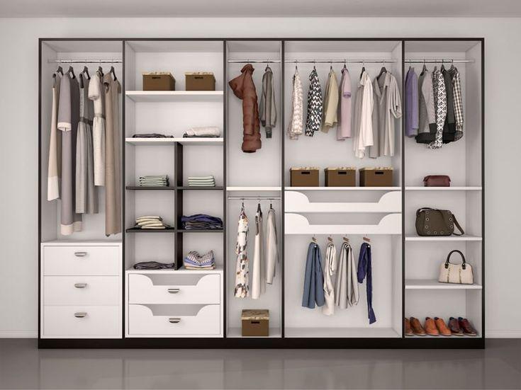 Pomysł na aranżację garderoby - prosta szafa w przedpokoju