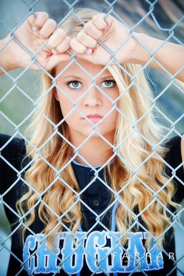 Softball senior picture/ or baseball senior picture! would also find a way to do something similar but with soccer