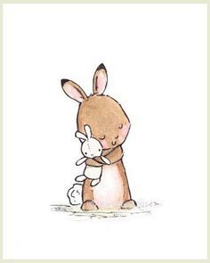 This sweet little bunny and her bunny rabbit doll make quite the cuddlesome duo…