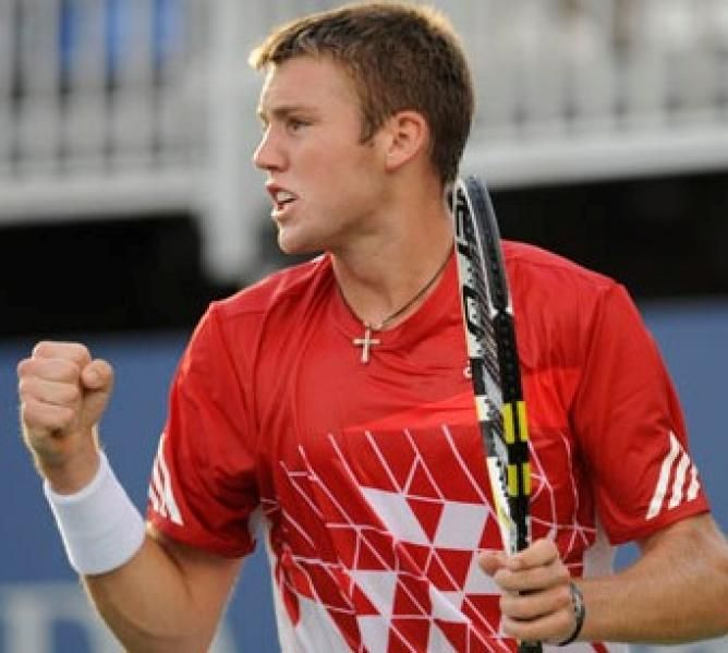 Jack Sock the lone American left in the Hall Of Fame Championships
