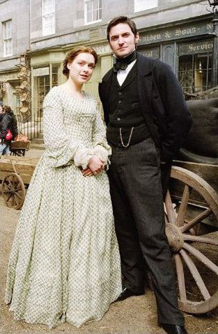 "If you haven't seen Elizabeth Gaskell's ""North & South"", you've missed a great story of love despite class/geographical prejudice. Here are Margaret Hale and John Thornton from that story."