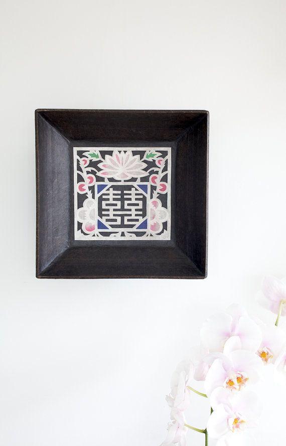 Asian Wall Hanging / Korean Hanji Paper / Hand by papertreeshop
