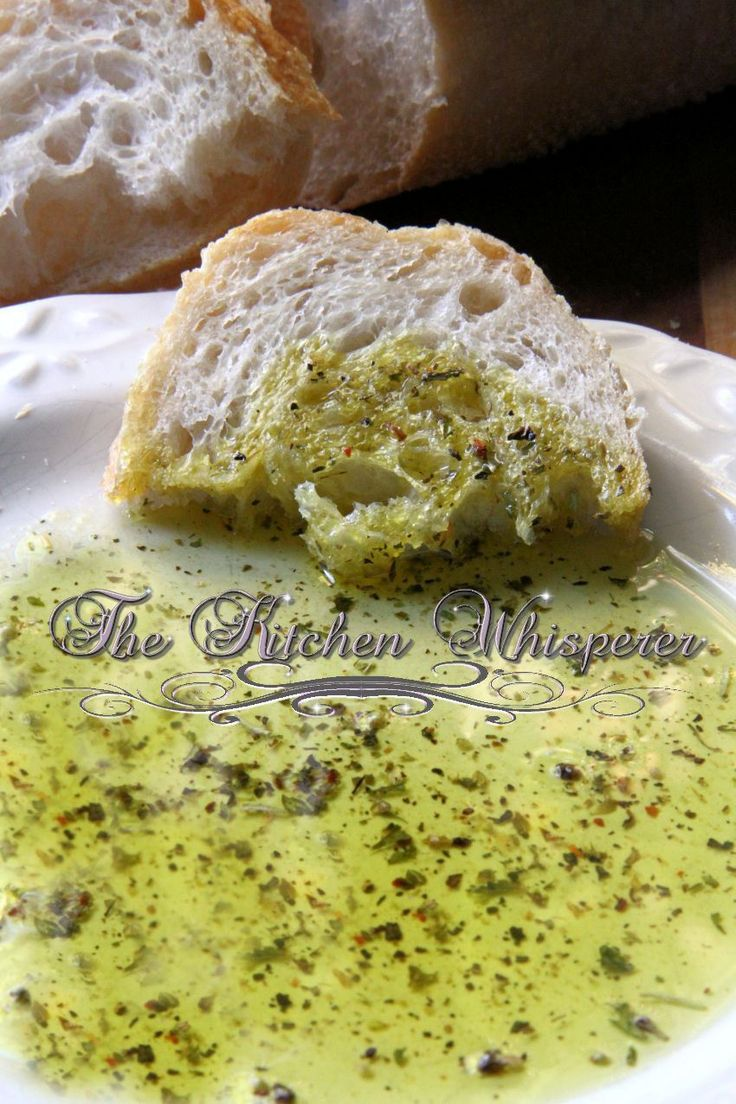The Kitchen Whisperer Tuscan Herbed Dipping Bread Oil