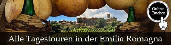 Tagestouren in der Region Emilia Romagna, Besichtigung mit Reiseführer, Kochkurse, Weinproben, Wanderungen, Fahrradtouren und Transfers http://www.italien-inseln.de/italia/emilia-romagna/tagestour.html