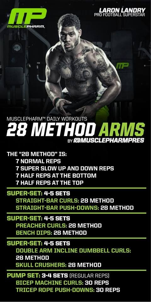 Arm workout. Muscle pharm