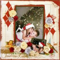 Chrismas Kisses Page Kit created with Webster's Pages by Teena Hopkins for My Scrappin' Shop.