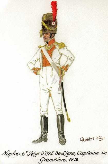 Kingdom Of Naples Grenadier Officer 6th Line Regt. 1812