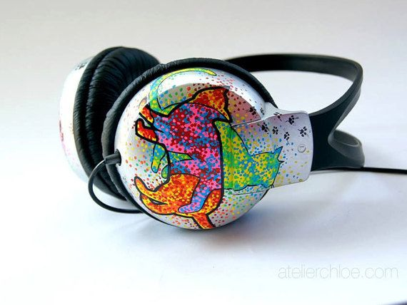 Casque personnalisé peint à la main découteurs par atelierChloe