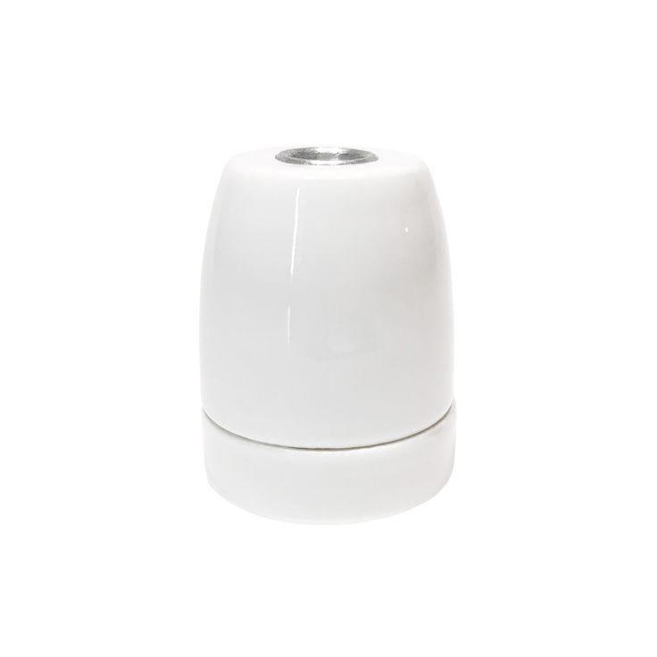 Comprar | Portalámparas E27 porcelana blanco puro | Comprar Casquillos de porcelana #iluminacion #decoracion #accesorioslamparas #lamparas #portalamparas #accesoriosporcelana