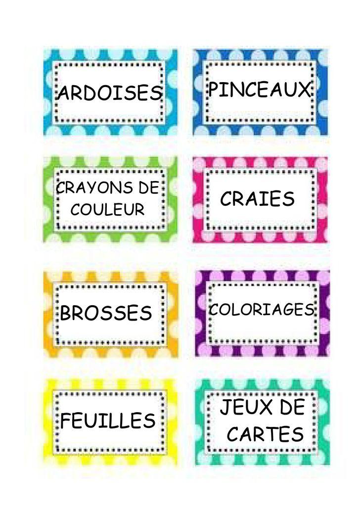 Préférence 404 best étiquettes images on Pinterest   Organization, Classroom  SN76